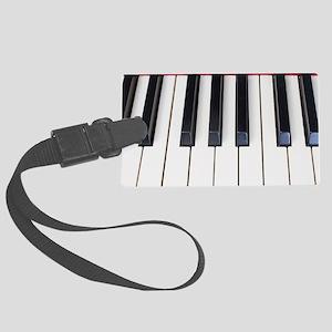 Piano Keys Large Luggage Tag