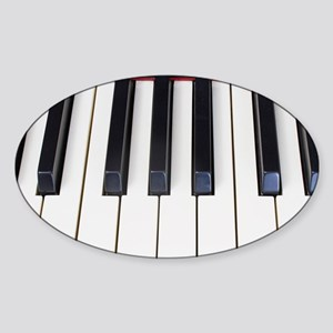 Piano Keys Sticker (Oval)