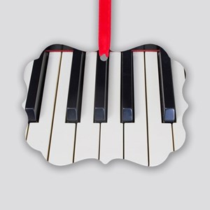 Piano Keys Picture Ornament