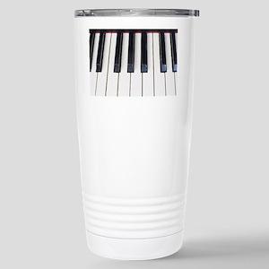 Piano Keys Stainless Steel Travel Mug