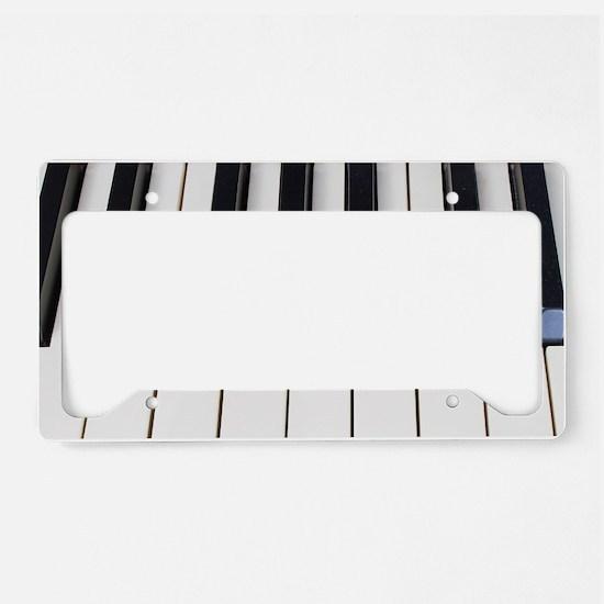 Piano Keys License Plate Holder