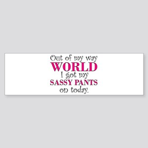 Sassy Pants Bumper Sticker