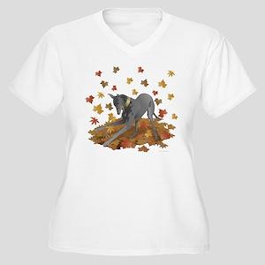 Playful Greyhound Plus Size T-Shirt