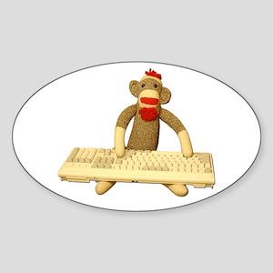 Code Monkey Oval Sticker