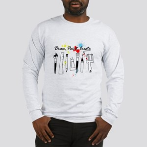 Draw Paint Create (Color) Long Sleeve T-Shirt