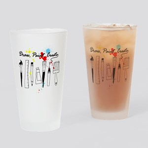 Draw Paint Create (Color) Drinking Glass