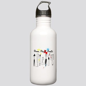Draw Paint Create (Color) Stainless Water Bottle 1