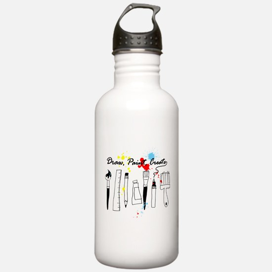 Draw Paint Create (Color) Water Bottle