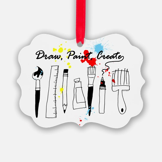 Draw Paint Create (Color) Ornament