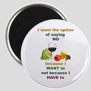 Saying No Magnet