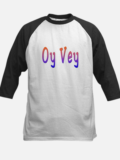 Yiddish Oy Vey Kids Baseball Jersey