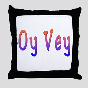 Yiddish Oy Vey Throw Pillow