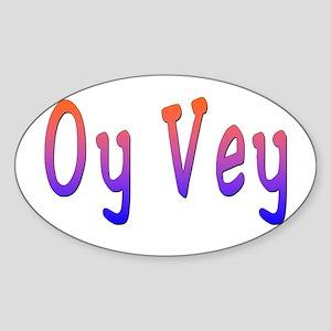 Yiddish Oy Vey Oval Sticker