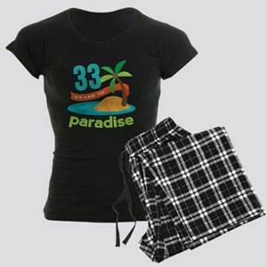 33rd Anniversary Paradise Women's Dark Pajamas