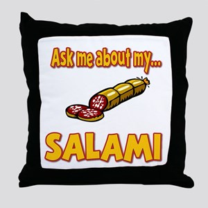 Funny Ask Me About My Salami Innuendo Humor Throw