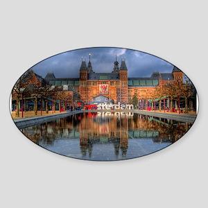 I Heart Amsterdam Sticker (Oval)