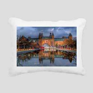 I Heart Amsterdam Rectangular Canvas Pillow