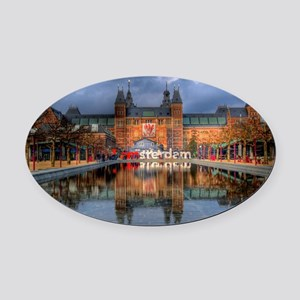 I Heart Amsterdam Oval Car Magnet