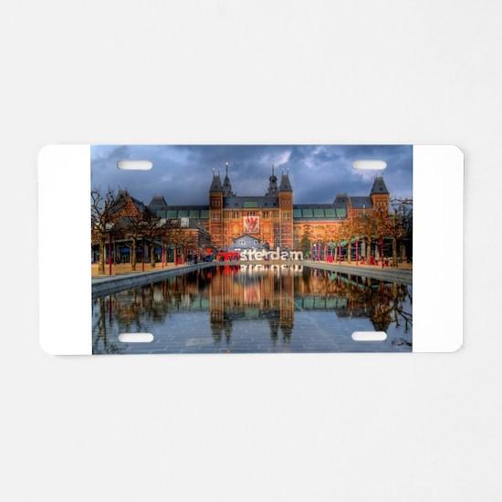 I Heart Amsterdam Aluminum License Plate