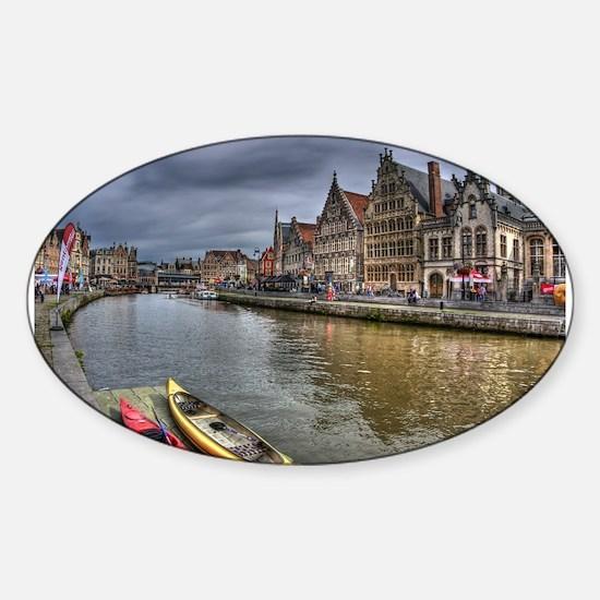 Charming Gent Sticker (Oval)
