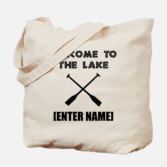 Welcome Lake [Personalize It!] Tote Bag