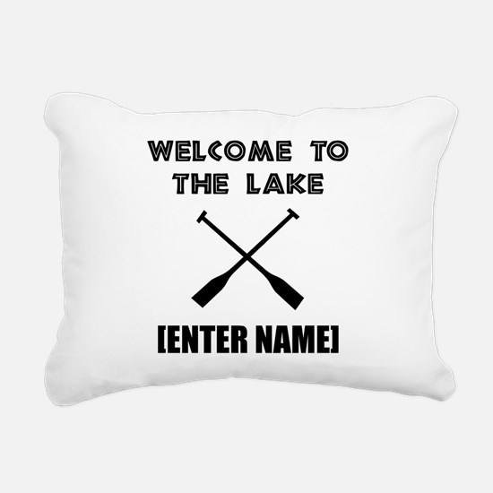 Welcome Lake [Personalize It!] Rectangular Canvas