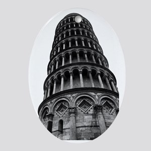 Leaning Tower of Pisa Oval Ornament
