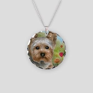 Dog 117 Necklace Circle Charm
