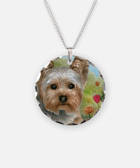 Dog 117 Necklace Circle Charm