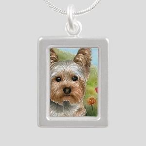 Dog 117 Silver Portrait Necklace
