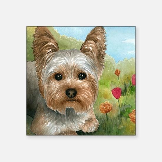 "Dog 117 Square Sticker 3"" x 3"""
