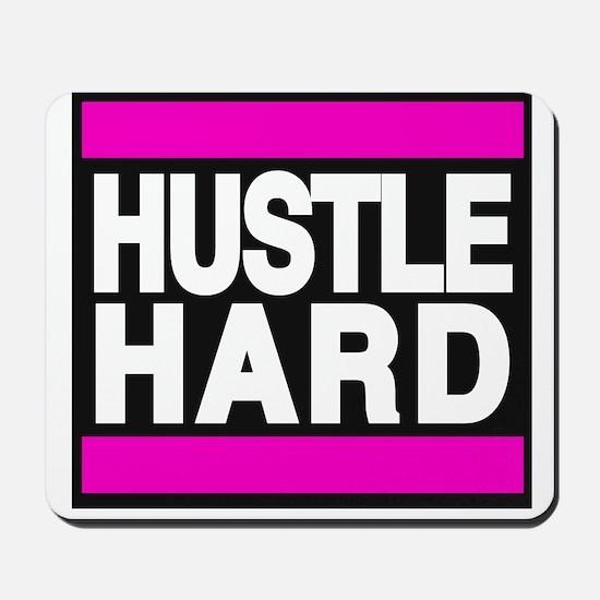 hustle hard pink Mousepad