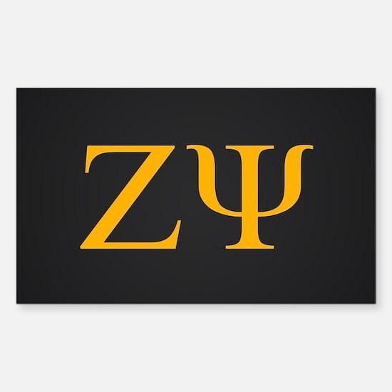 Zeta Psi Letters Class of XXXX Sticker (Rectangle)