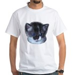Blue Eyed Kitten White T-Shirt