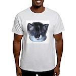 Blue Eyed Kitten Ash Grey T-Shirt