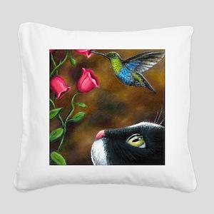 Cat 571 Square Canvas Pillow
