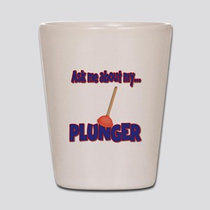 Funny Ask Me About My Plunger Plumber Design Shot