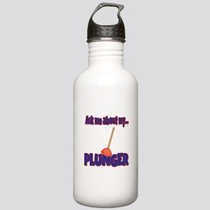 Funny Ask Me About My Plunger Plumber Design Stain