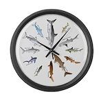 12 Shark Large Wall Clock