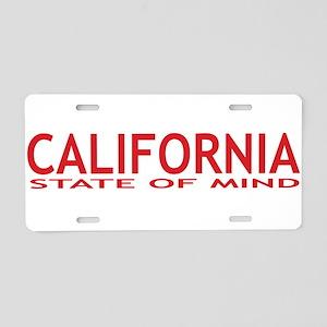 california state of mind red Aluminum License Plat