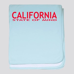 california state of mind red baby blanket