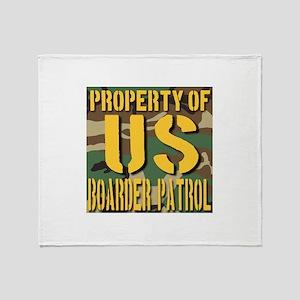 Property of US Boarder Patrol Throw Blanket
