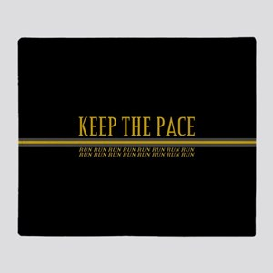 Running Keep the Pace Throw Blanket