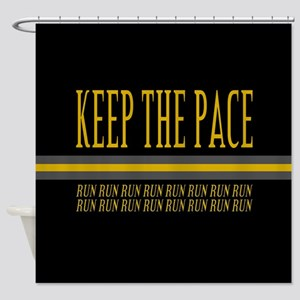 Running Keep the Pace Shower Curtain