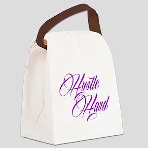 hustle hard purple Canvas Lunch Bag