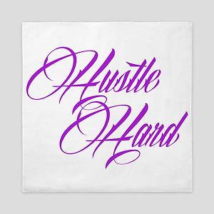 hustle hard purple Queen Duvet