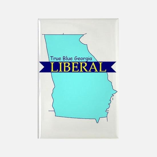 True Blue Georgia LIBERAL Rectangle Magnet