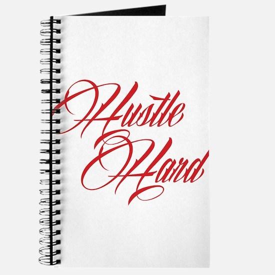 hustle hard red Journal