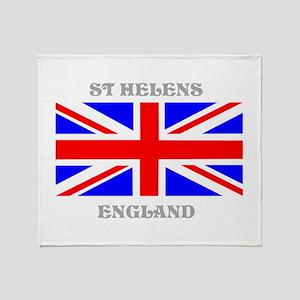 St Helens England Throw Blanket