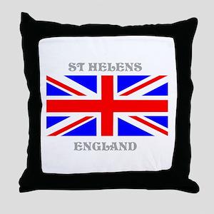 St Helens England Throw Pillow